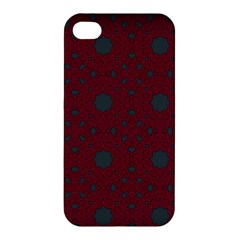 Blue Hot Pink Pattern With Woody Circles Apple Iphone 4/4s Hardshell Case