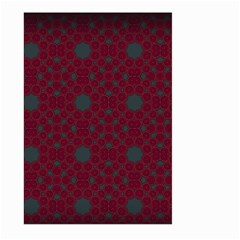 Blue Hot Pink Pattern With Woody Circles Large Garden Flag (two Sides)