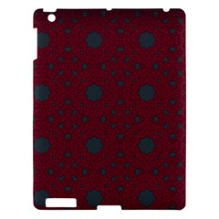 Blue Hot Pink Pattern With Woody Circles Apple iPad 3/4 Hardshell Case