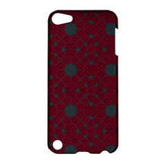 Blue Hot Pink Pattern With Woody Circles Apple iPod Touch 5 Hardshell Case