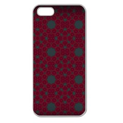 Blue Hot Pink Pattern With Woody Circles Apple Seamless iPhone 5 Case (Clear)