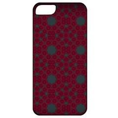 Blue Hot Pink Pattern With Woody Circles Apple iPhone 5 Classic Hardshell Case