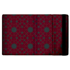 Blue Hot Pink Pattern With Woody Circles Apple iPad 3/4 Flip Case
