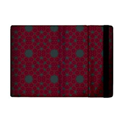 Blue Hot Pink Pattern With Woody Circles Apple Ipad Mini Flip Case