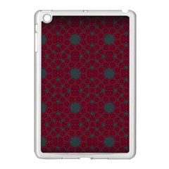 Blue Hot Pink Pattern With Woody Circles Apple Ipad Mini Case (white)