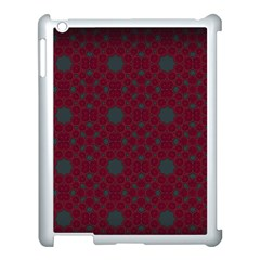 Blue Hot Pink Pattern With Woody Circles Apple iPad 3/4 Case (White)