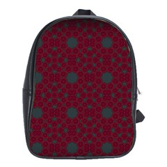 Blue Hot Pink Pattern With Woody Circles School Bags (xl)
