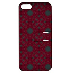 Blue Hot Pink Pattern With Woody Circles Apple iPhone 5 Hardshell Case with Stand