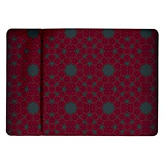 Blue Hot Pink Pattern With Woody Circles Samsung Galaxy Tab 10.1  P7500 Flip Case