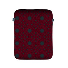 Blue Hot Pink Pattern With Woody Circles Apple iPad 2/3/4 Protective Soft Cases