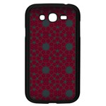 Blue Hot Pink Pattern With Woody Circles Samsung Galaxy Grand DUOS I9082 Case (Black) Front