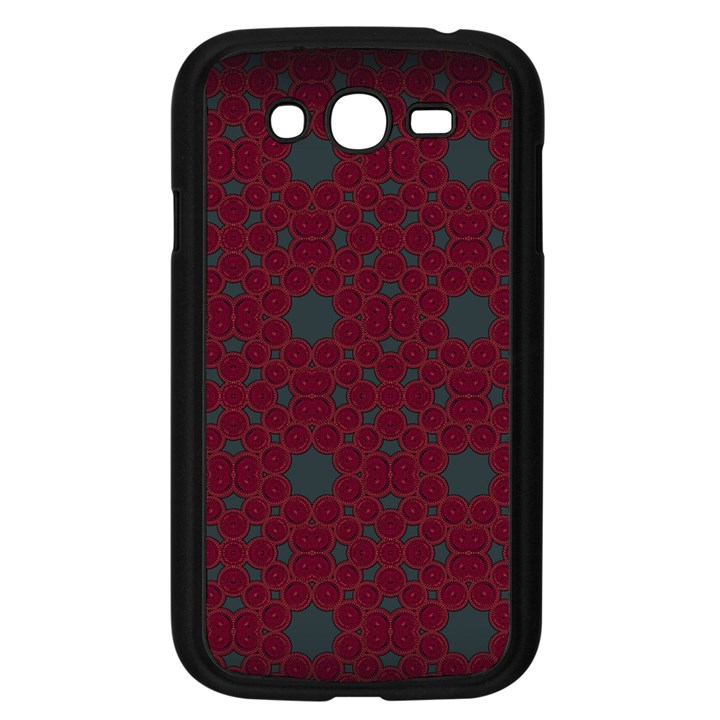 Blue Hot Pink Pattern With Woody Circles Samsung Galaxy Grand DUOS I9082 Case (Black)