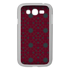 Blue Hot Pink Pattern With Woody Circles Samsung Galaxy Grand Duos I9082 Case (white)