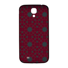 Blue Hot Pink Pattern With Woody Circles Samsung Galaxy S4 I9500/i9505  Hardshell Back Case