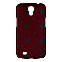 Blue Hot Pink Pattern With Woody Circles Samsung Galaxy Mega 6.3  I9200 Hardshell Case