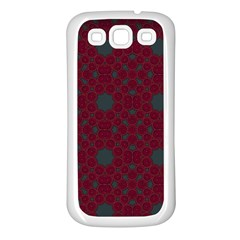 Blue Hot Pink Pattern With Woody Circles Samsung Galaxy S3 Back Case (White)