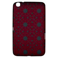 Blue Hot Pink Pattern With Woody Circles Samsung Galaxy Tab 3 (8 ) T3100 Hardshell Case