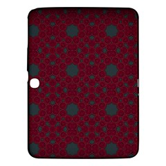 Blue Hot Pink Pattern With Woody Circles Samsung Galaxy Tab 3 (10.1 ) P5200 Hardshell Case