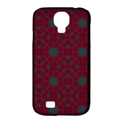 Blue Hot Pink Pattern With Woody Circles Samsung Galaxy S4 Classic Hardshell Case (PC+Silicone)