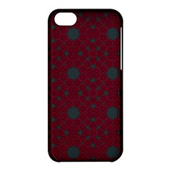 Blue Hot Pink Pattern With Woody Circles Apple iPhone 5C Hardshell Case