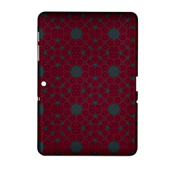 Blue Hot Pink Pattern With Woody Circles Samsung Galaxy Tab 2 (10.1 ) P5100 Hardshell Case