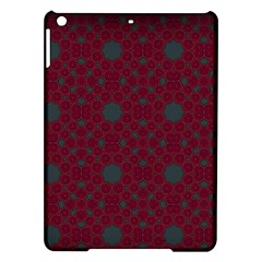 Blue Hot Pink Pattern With Woody Circles iPad Air Hardshell Cases