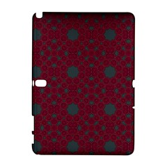 Blue Hot Pink Pattern With Woody Circles Galaxy Note 1