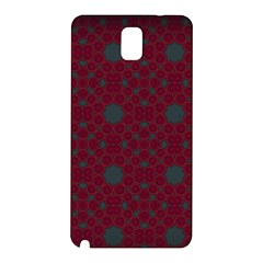 Blue Hot Pink Pattern With Woody Circles Samsung Galaxy Note 3 N9005 Hardshell Back Case