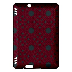 Blue Hot Pink Pattern With Woody Circles Kindle Fire Hdx Hardshell Case