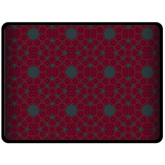 Blue Hot Pink Pattern With Woody Circles Double Sided Fleece Blanket (Large)