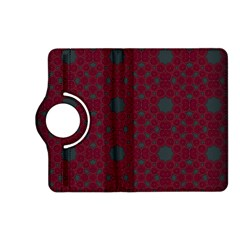 Blue Hot Pink Pattern With Woody Circles Kindle Fire Hd (2013) Flip 360 Case