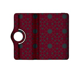 Blue Hot Pink Pattern With Woody Circles Kindle Fire HDX 8.9  Flip 360 Case