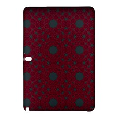 Blue Hot Pink Pattern With Woody Circles Samsung Galaxy Tab Pro 10.1 Hardshell Case