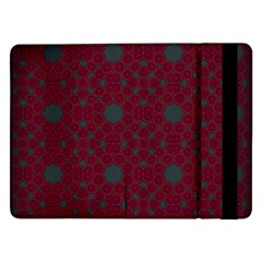 Blue Hot Pink Pattern With Woody Circles Samsung Galaxy Tab Pro 12.2  Flip Case