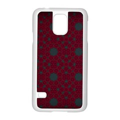 Blue Hot Pink Pattern With Woody Circles Samsung Galaxy S5 Case (White)