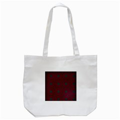 Blue Hot Pink Pattern With Woody Circles Tote Bag (White)