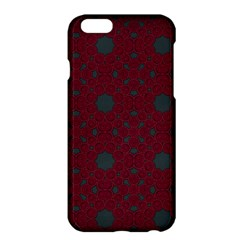 Blue Hot Pink Pattern With Woody Circles Apple iPhone 6 Plus/6S Plus Hardshell Case
