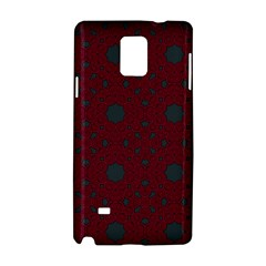 Blue Hot Pink Pattern With Woody Circles Samsung Galaxy Note 4 Hardshell Case
