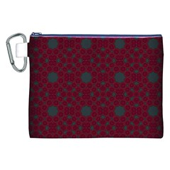 Blue Hot Pink Pattern With Woody Circles Canvas Cosmetic Bag (xxl)