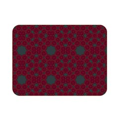 Blue Hot Pink Pattern With Woody Circles Double Sided Flano Blanket (Mini)