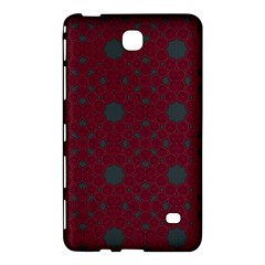 Blue Hot Pink Pattern With Woody Circles Samsung Galaxy Tab 4 (7 ) Hardshell Case