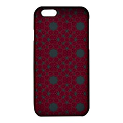 Blue Hot Pink Pattern With Woody Circles iPhone 6/6S TPU Case