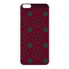 Blue Hot Pink Pattern With Woody Circles Apple Seamless iPhone 6 Plus/6S Plus Case (Transparent)