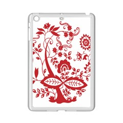 Red Vintage Floral Flowers Decorative Pattern Clipart iPad Mini 2 Enamel Coated Cases
