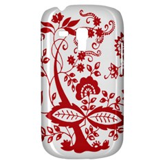 Red Vintage Floral Flowers Decorative Pattern Clipart Galaxy S3 Mini