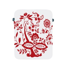 Red Vintage Floral Flowers Decorative Pattern Clipart Apple iPad 2/3/4 Protective Soft Cases