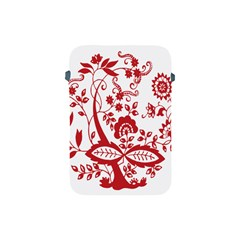 Red Vintage Floral Flowers Decorative Pattern Clipart Apple Ipad Mini Protective Soft Cases