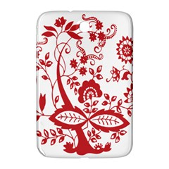 Red Vintage Floral Flowers Decorative Pattern Clipart Samsung Galaxy Note 8.0 N5100 Hardshell Case