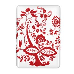 Red Vintage Floral Flowers Decorative Pattern Clipart Samsung Galaxy Tab 2 (10.1 ) P5100 Hardshell Case