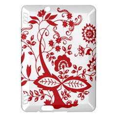 Red Vintage Floral Flowers Decorative Pattern Clipart Kindle Fire HDX Hardshell Case